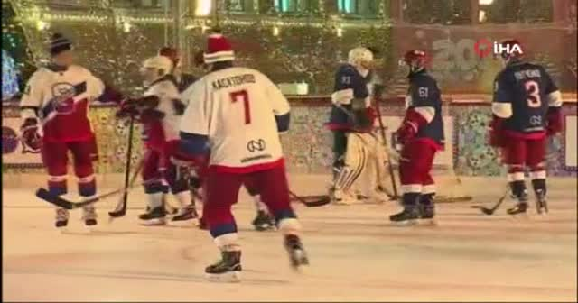 Rusya lideri Putin, hokey maçı yaptı
