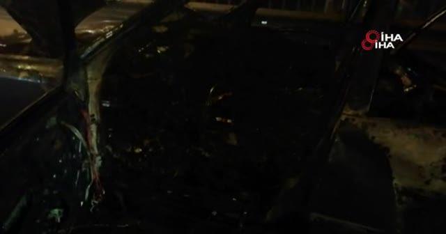 Seyir halindeki LPG'li otomobil alev alev yandı