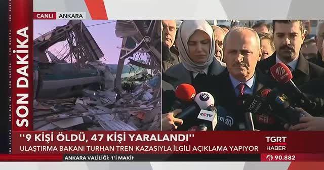 Ulaştırma Bakanı tren kazasıyla ilgili açıklama yaptı