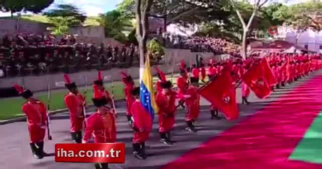 Venezuelalı askerler İstiklal Marşı'nı hep bir ağızdan okudu