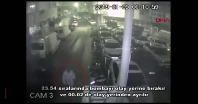 Beyoğlu'nda iş yerinin önüne bırakılan bombanın şüphelisi yakalandı