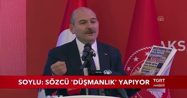 Bakan Soylu'dan Sözcü Gazetesi'ne yalanlama: Bu bir düşmanlıktır