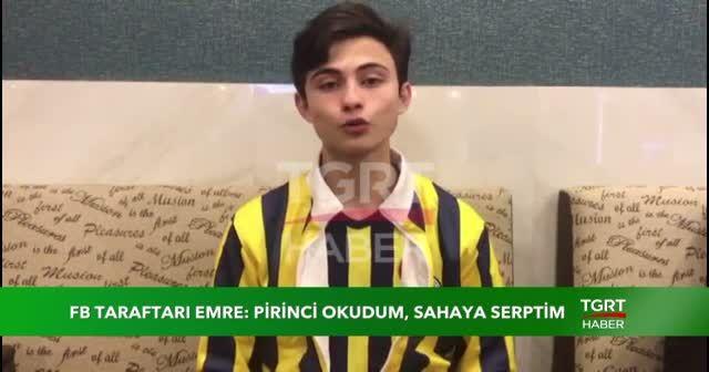 Fenerbahçe taraftarı Emre Avcu, 'pirincin hikayesini' anlattı