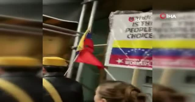 Maduro'yu destekleyenler ABD'de sokağa indi