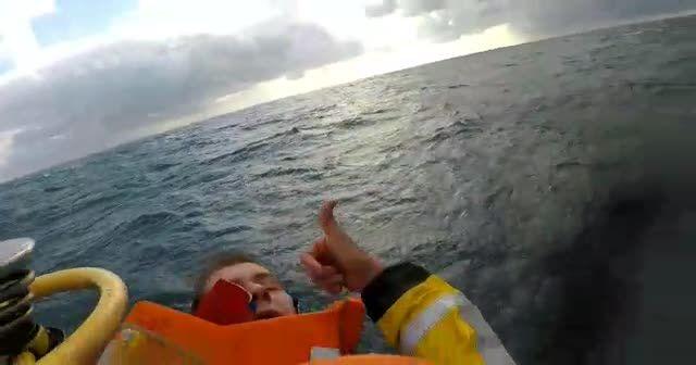 Samsun açıklarında gemi battı! Kurtarma çalışmaları kamera ile kaydedildi