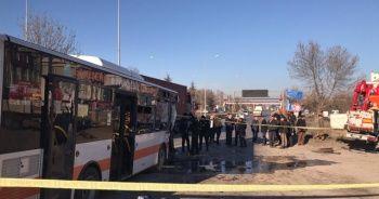 Eskişehir'de kaza anı