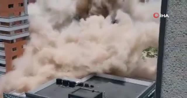 Uyuşturucu baronu Escobar'ın binası 3.2 saniyede yıkıldı