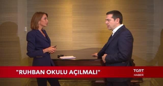 Yunanistan Başbakanı Aleksis Çipras'tan TGRT HABER'e çok özel açıklamalar