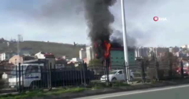 Avrasya Üniversitesi kampüsünde yangın