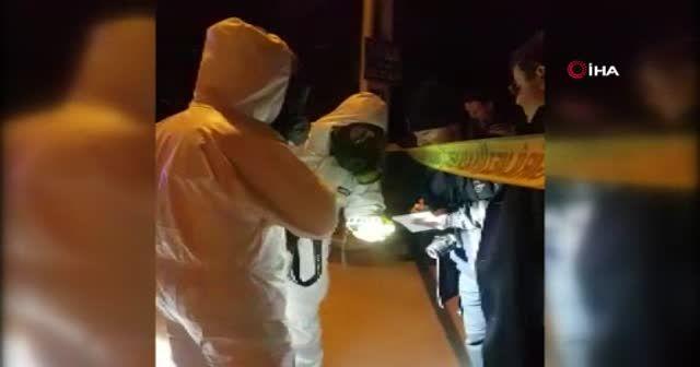 Bidon içerisinde konteynere atılan kimyasal madde AFAD ekiplerini harekete geçirdi