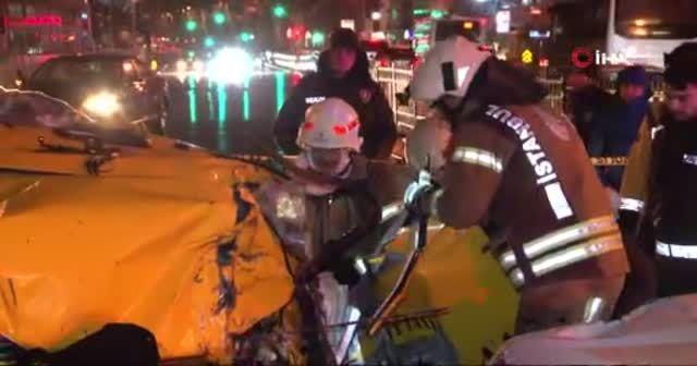Beşiktaş'ta feci kaza;1 ölü, 2 yaralı