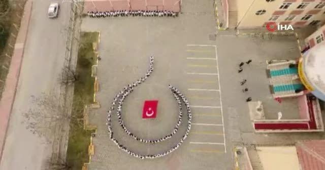 Elazığ'da 250 öğrenci ile muhteşem kareografi