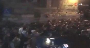 Filistinliler, Mescid-i Aksa'nın İbadete Kapatılmasını Protesto Etti