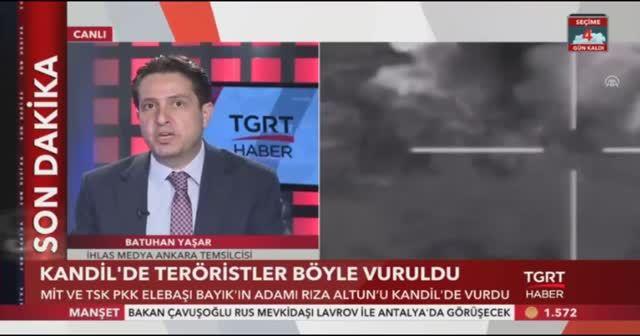 Kandil'de teröristler böyle vuruldu