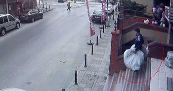 Site otoparkından lastik hırsızlığı
