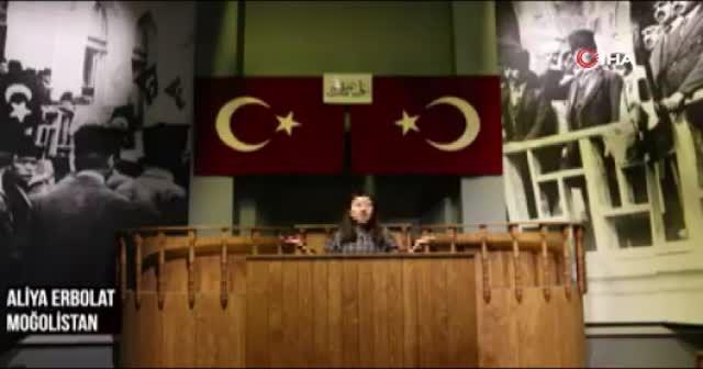 Yabancı öğrencilerin İstiklal Marşı videosu büyük beğeni topladı