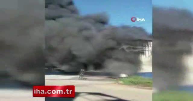 Antalya'da fabrika alev alev yandı!