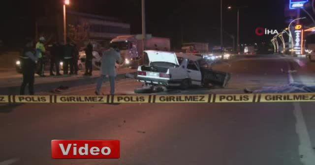 Feci kaza güvenlik kamerasında: 2 ölü 3 yaralı