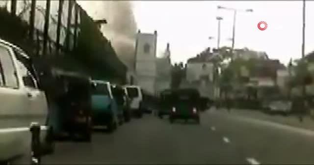 Sri Lanka'da patlama anı