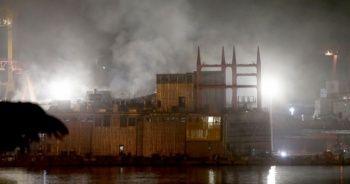 Tuzla'daki tersanede yangın