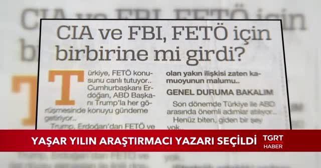 İhlas Medya Ankara Temsilcisi Batuhan Yaşar yılın araştırmacı yazarı seçildi