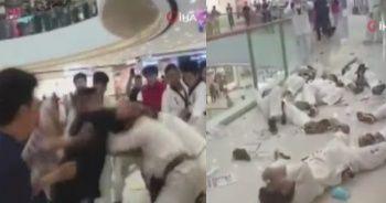 Çin'de tekvandocular birbirine girdi
