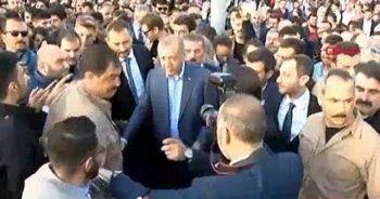 Cumhurbaşkanı Erdoğan Taksim Meydanı'nda