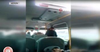 Minibüste karısını dövdü!
