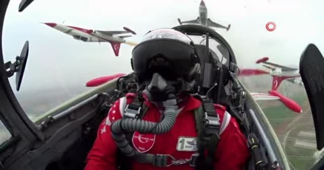 Ters uçuş yapan pilotun kokpit görüntüleri