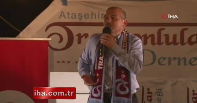 Bakan Soylu Trabzonlularla Ataşehir'de bir araya geldi