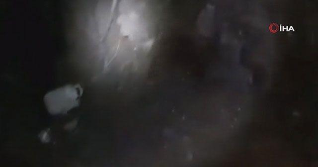 Hakurk'ta teröristlere ait 13 odalı sığınak imha edildi