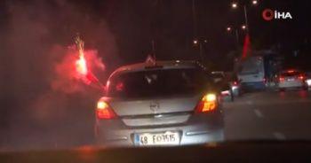Başkentte trafik magandaları meşale yaktı