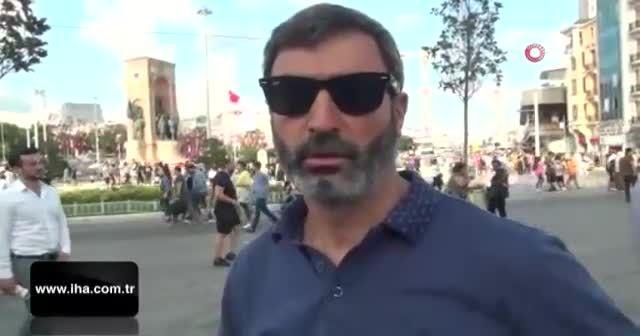 Dedektif gibi iz sürdü, kendisini dolandıran Filistinliyi Taksim'de yakaladı
