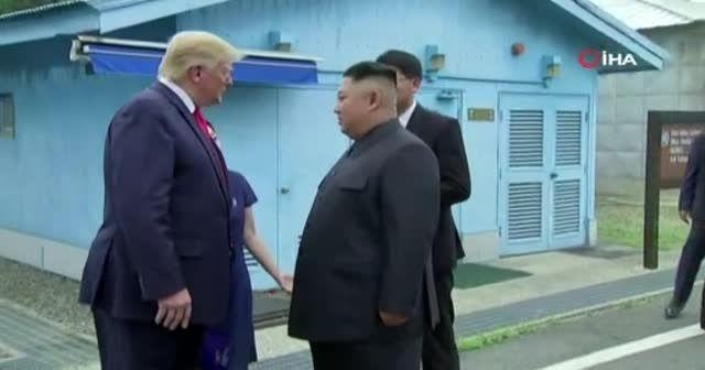 Trump ve Kim silahsızlandırılmış bölgede buluştu