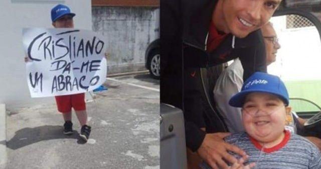 Ronaldo, lösemi hastası çocuğu kırmadı