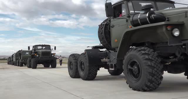 Bakanlık paylaştı: S-400 teslimatından ilk görüntüler