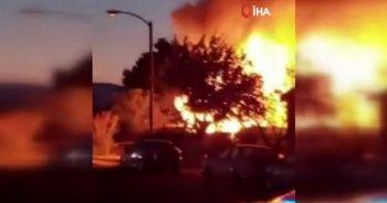 Kaliforniya'da deprem sonrası yangın