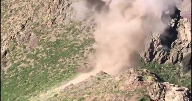 Pençe-2 Harekâtı'nda tespit edilen mayın ve el yapımı patlayıcılar imha ediliyor