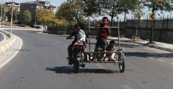 4 çocuğun motosiklet yolculuğu yürekleri ağza getirdi