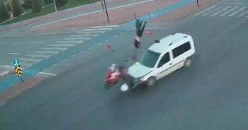 Kırmızı ışıkta hızlı geçen sürücü dehşet saçtı