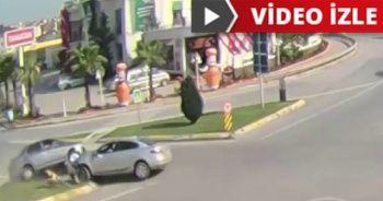 Trafik kazaları güvenlik kamerasına takıldı!