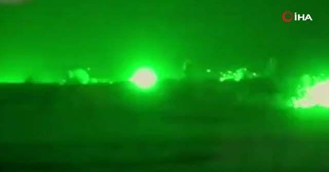 Suriye'de Esad rejimi güçlerinin hava saldırısı görüntülendi