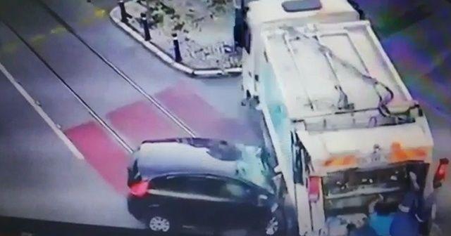 2 kişinin öldüğü feci kaza kamerada