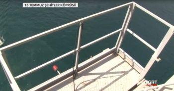 15 Temmuz Şehitler Köprüsü sapasağlam! İşte iddialara sebep olan o iskele