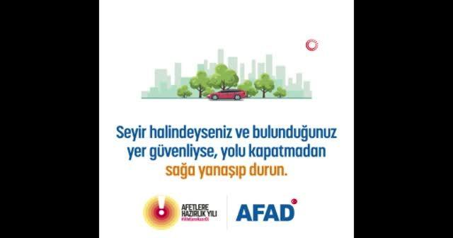 AFAD depremle ilgili bilgilendirme videosu yayınladı
