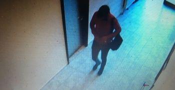 Antrenmanı izleyen hırsız kameralara yakalandı