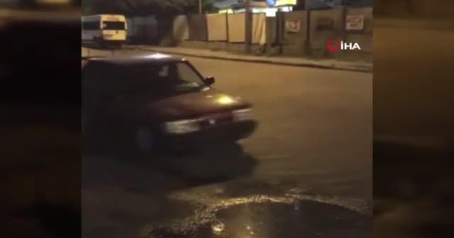 "İstanbul'da ""drift"" terörü kamerada"