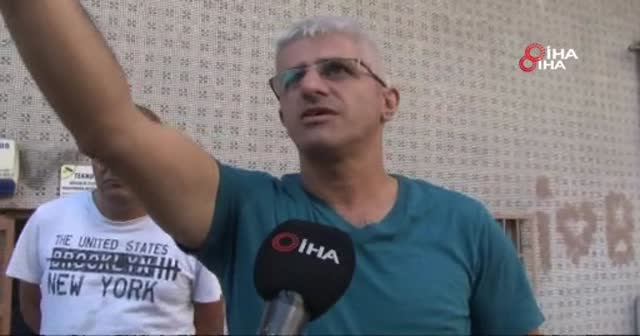 Polis baskınından kaçan mülteciler kamerada