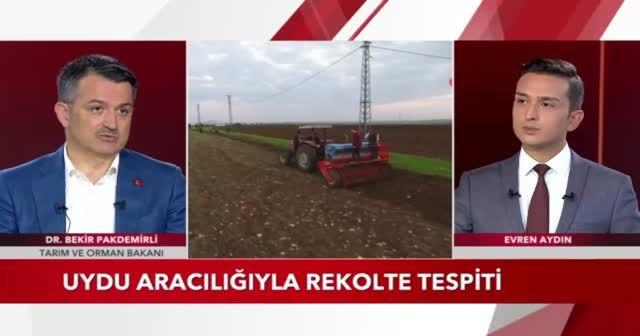 Tarım ve Orman Bakanı Bekir Pakdemirli TGRT Haber'e konuk oldu