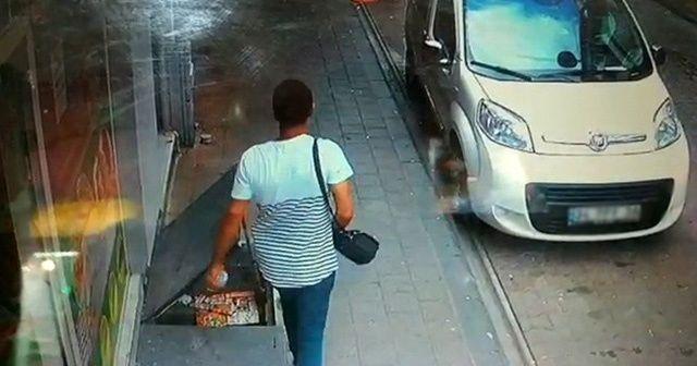 Restorana giren hırsız para dolu çantayı böyle çaldı